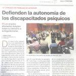 27-09-2017-Diario Córdoba - Defienden la autonomía de los discapacitados psíquicos