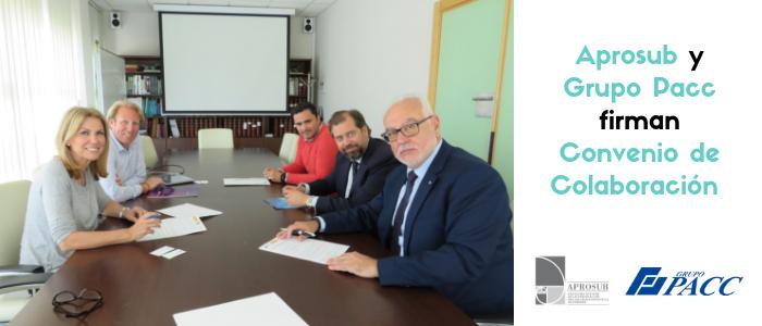 Aprosub y Grupo Pacc firman acuerdo de colaboración para la cobertura de varios puestos de trabajo para personas con discapacidad intelectual bajo la metodología de Empleo con Apoyo.